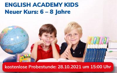 Neuer Englisch-Kurs für Kinder im Alter von 6 bis 8 Jahren